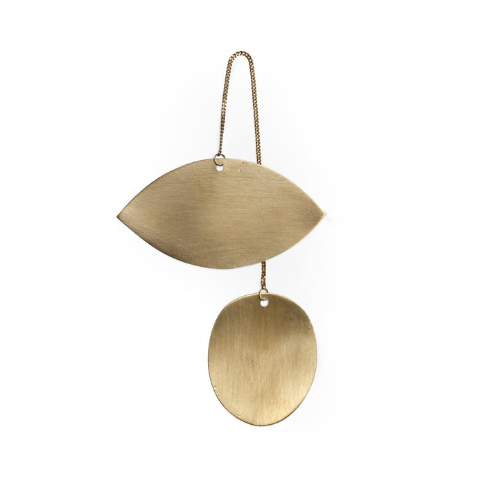 Twin ornament by ferm Living in brass / Eye