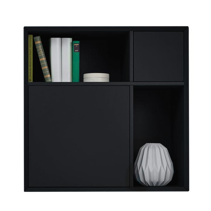 Vertiko Lack Sideboard One by Müller Möbelwerkstätten made of MDF graphite black (RAL 9011)