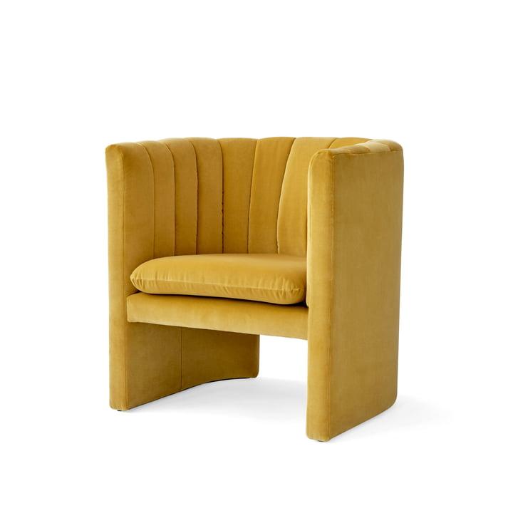 Loafer Armchair from & Tradition in Velvet 6 (dandelion)
