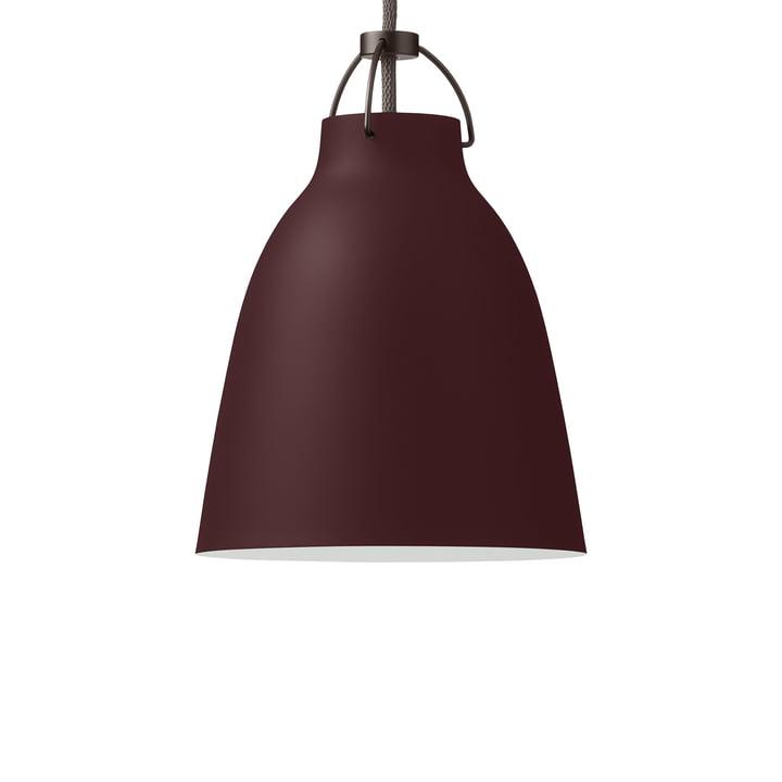 Caravaggio P1 pendant lamp by Fritz Hansen in matt dark sienna