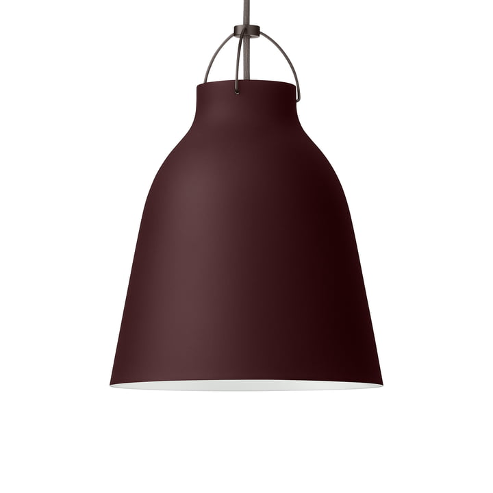 Caravaggio P2 pendant lamp by Fritz Hansen in matt dark sienna