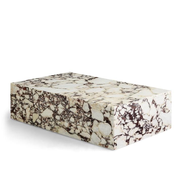 Plinth coffee table low, rose by Menu