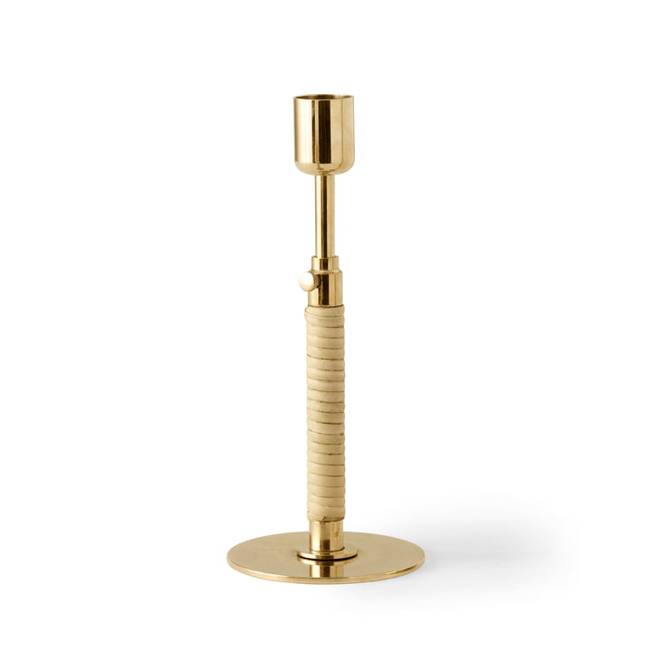 Duca candle holder, brass polished by Menu