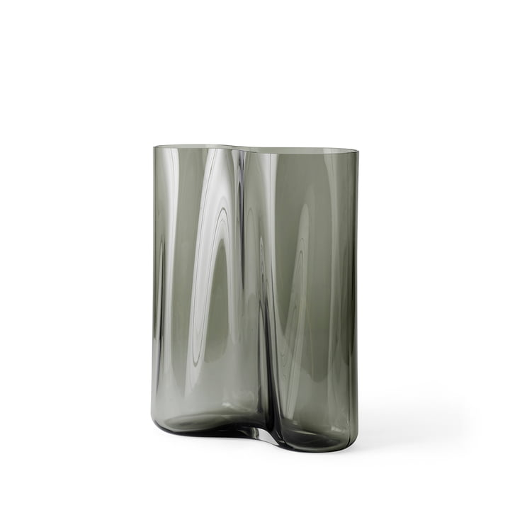 Aer vase H 33 cm, smoke from Menu