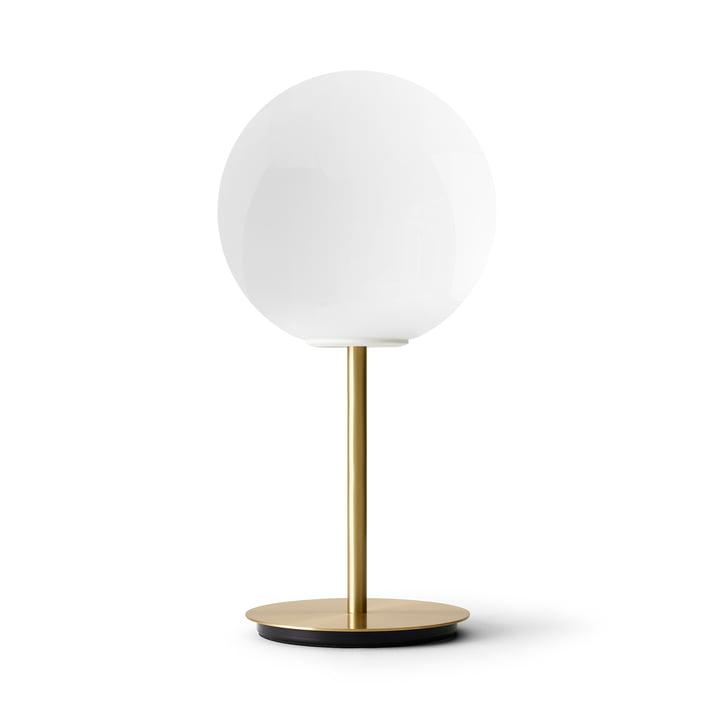 TR table lamp, brass / light source shiny opal by Menu