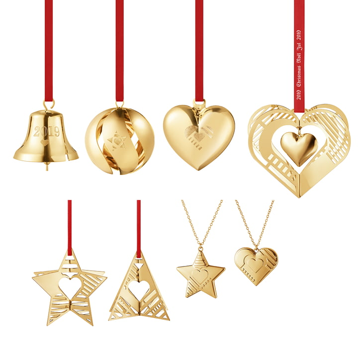 Gift set 2019 (8 pcs.) in gold by Georg Jensen