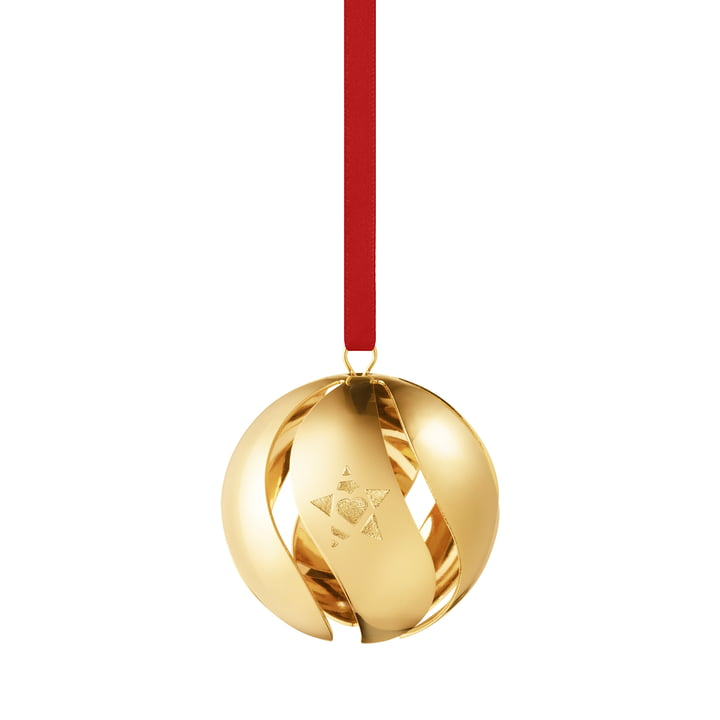 Christmas ball 2019, gold from Georg Jensen