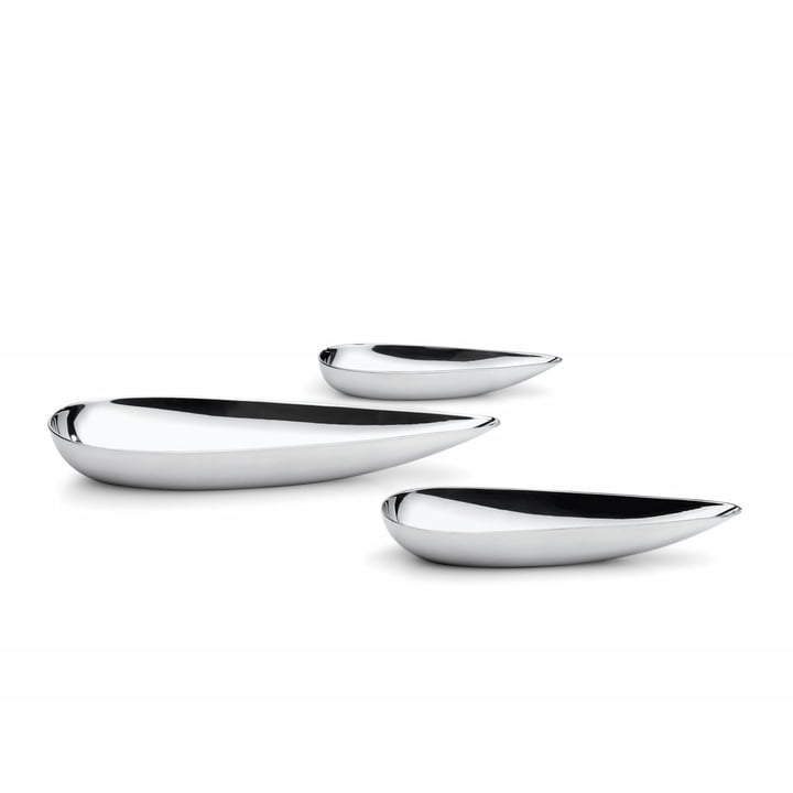 Blob bowls (set of 3) in stainless steel by Philippi