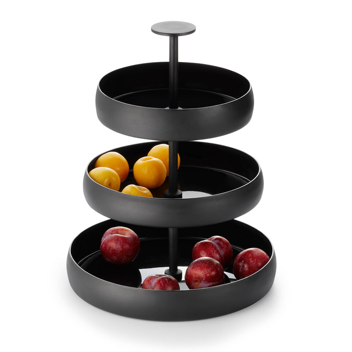 Negretto Etagere in black from Philippi with fruit