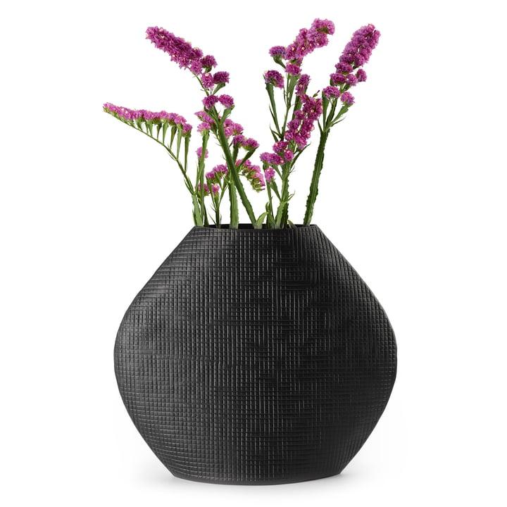 Outback Vase L in black by Philippi