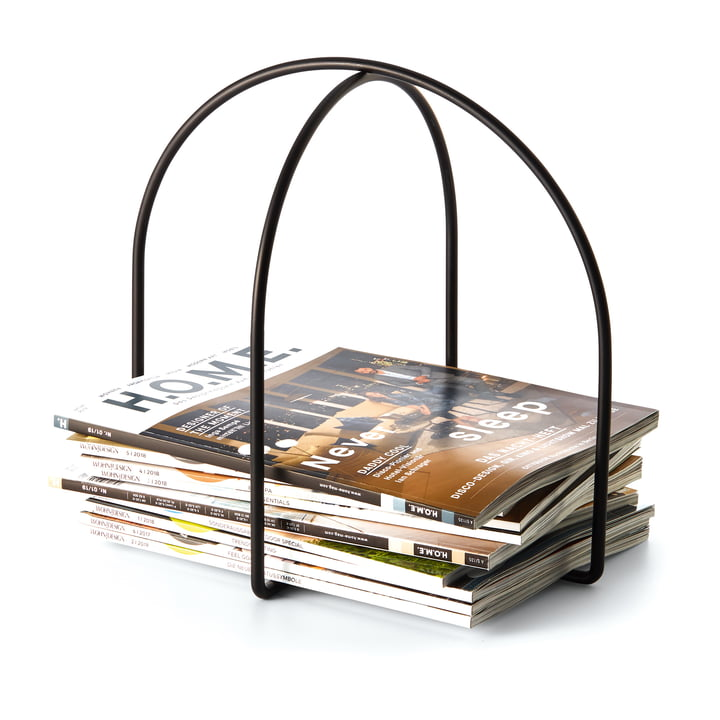 Magazine magazine holder in black by Philippi