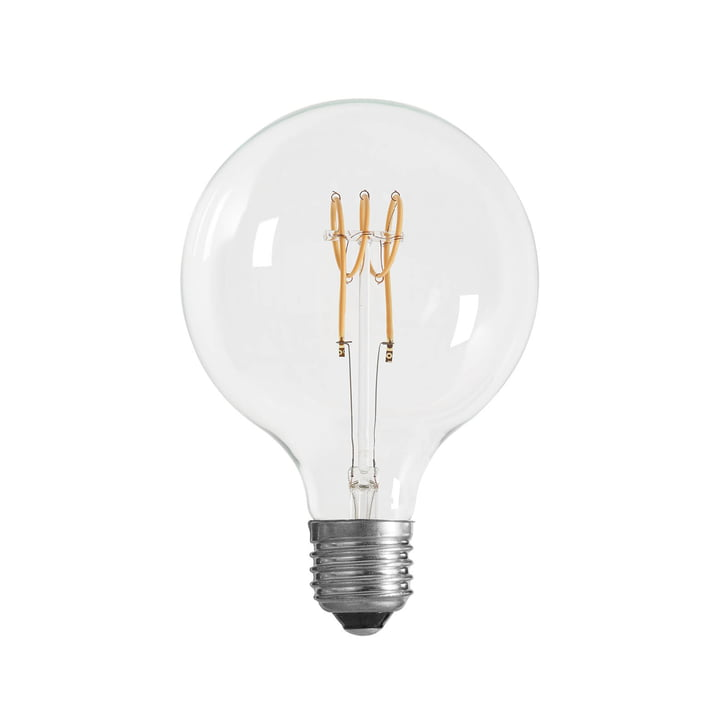 LED-Spin bulb Ø 125 mm, E27 / 3 W, clear from NUD Collection
