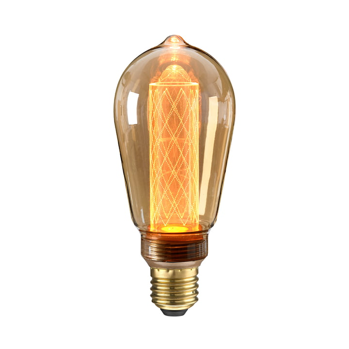 LED Circus bulb Ø 65 mm, E27 / 2,5 W, amber by NUD Collection