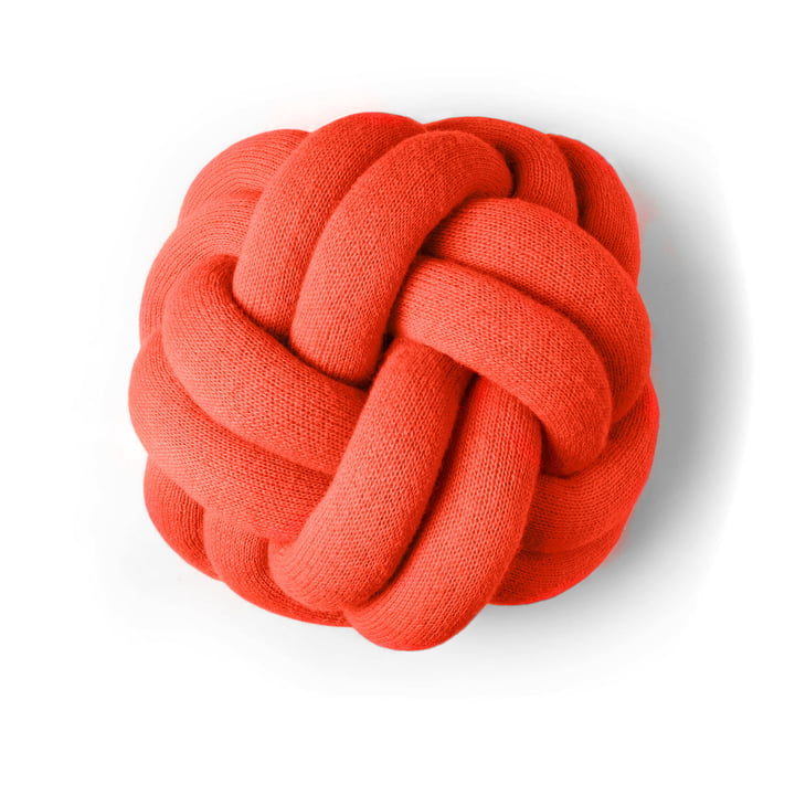 Knot pillow in tomato red by Design House Stockholm