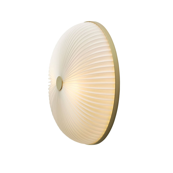 Lamella wall and ceiling lamp Ø 35 cm from Le Klint in gold / white