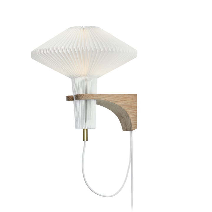 "204 Wall lamp ""The Mushroom"" by Le Klint in oak / white"