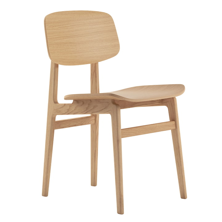 NY11 Dining Chair by Norr11 in natural oak