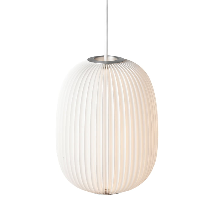 Lamella 4 pendant lamp from Le Klint in silver / white