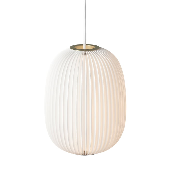 Lamella 4 pendant lamp from Le Klint in gold / white