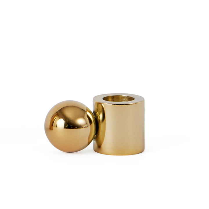 Candle holder Palloa small, brass by OYOY