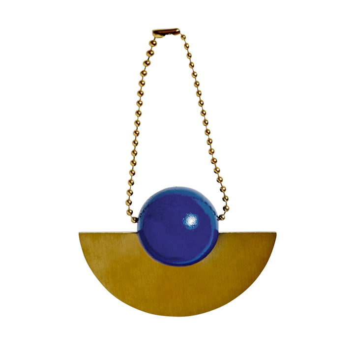 Christmas decoration pendant Lucia in brass / blue by OYOY