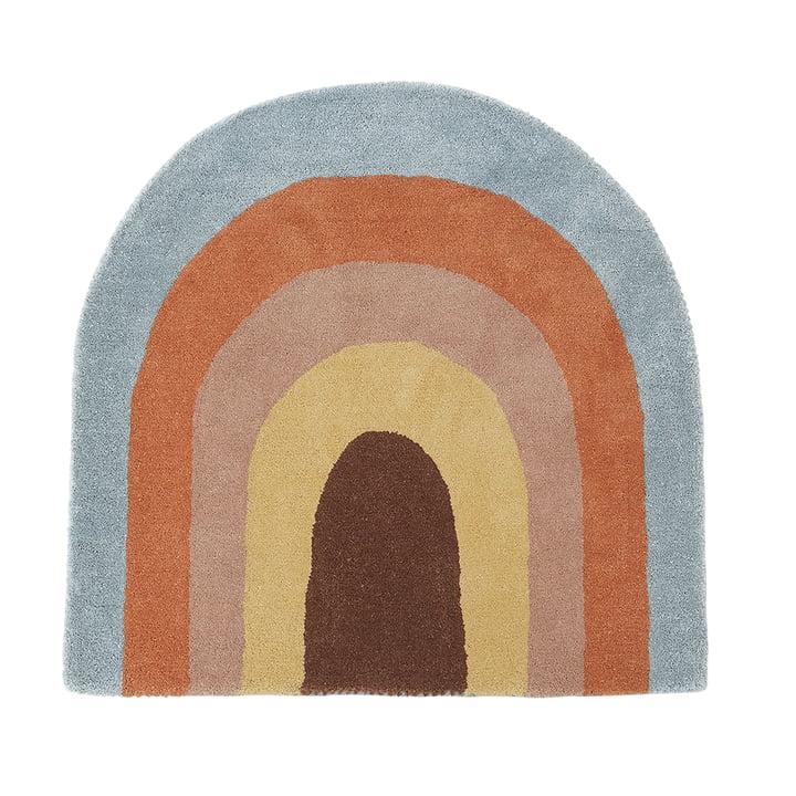 Children carpet 88 x 90 cm Rainbow by OYOY