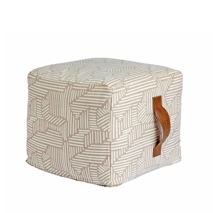 Mini Paddy Pouf square by OYOY in pink