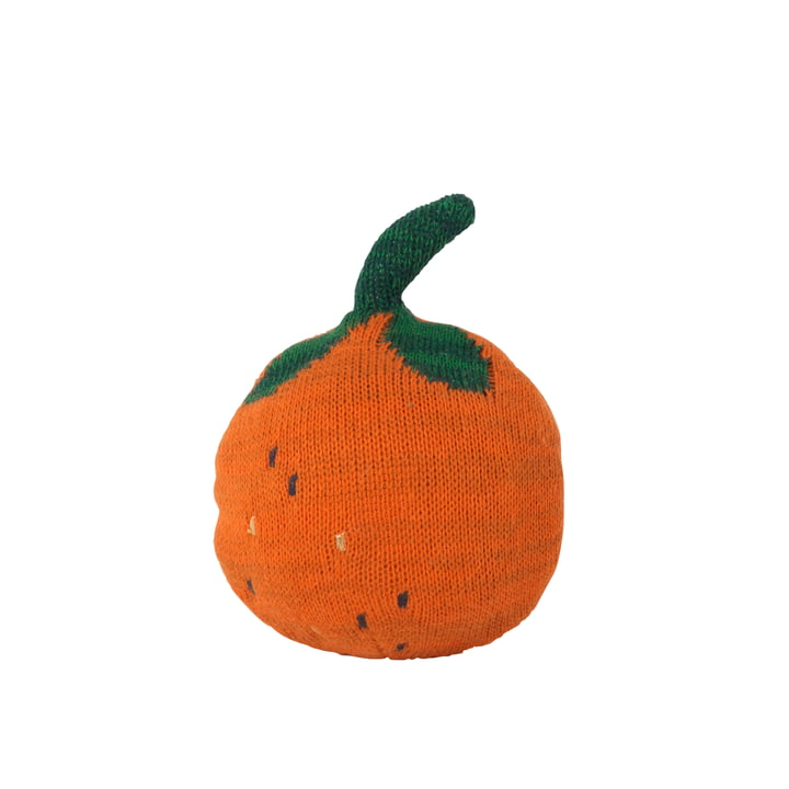 Fruiticana Cushion Orange Roly Poly by ferm Living in orange