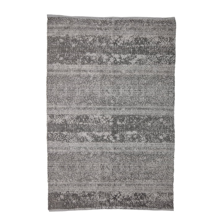 Carpet with pattern, 180 x 120 cm, grey by Bloomingville