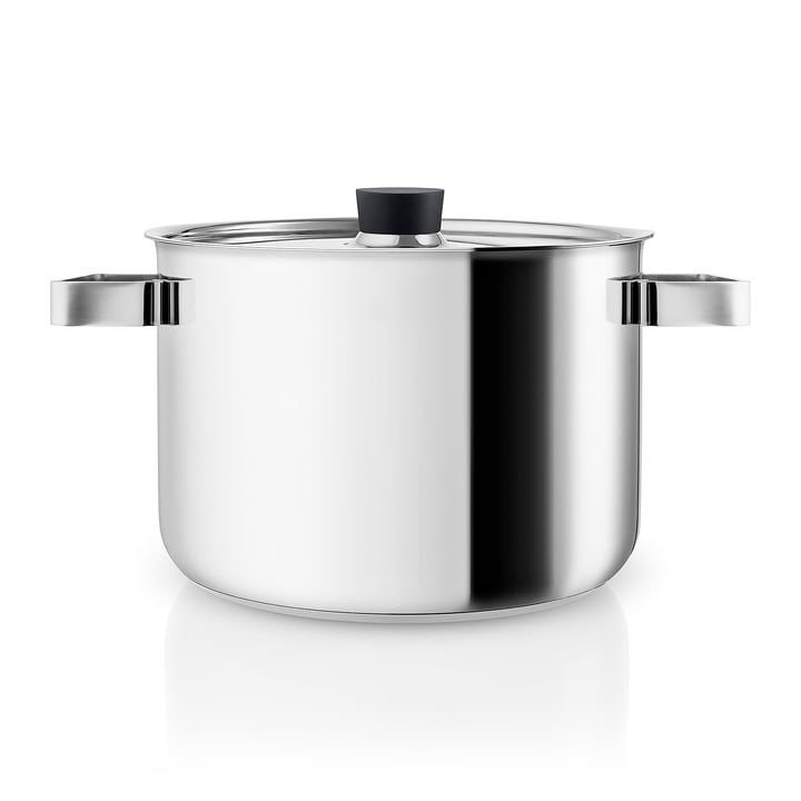 Nordic Kitchen cooking pot 4 l by Eva Solo in stainless steel / black
