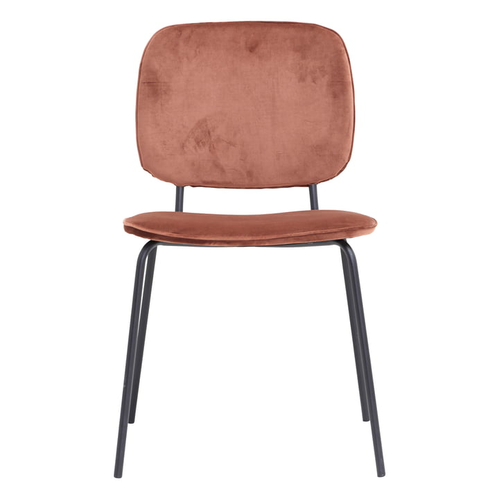 Comma velvet chair by House Doctor in rust red
