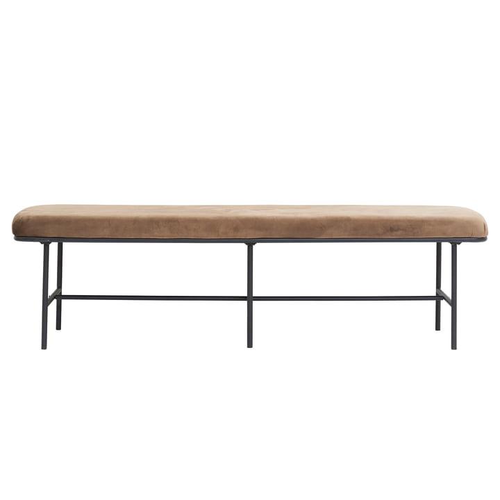 Comma velvet bench from House Doctor in brown