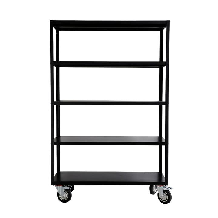 Shelf with castors by House Doctor in matt black