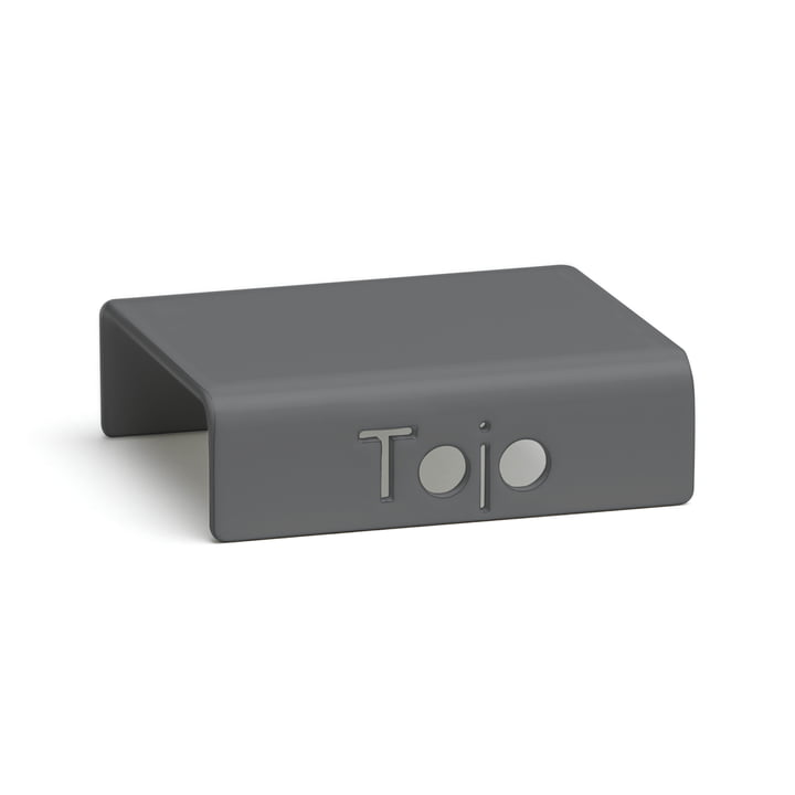 Clip for high stacker shelving system from Tojo in anthracite