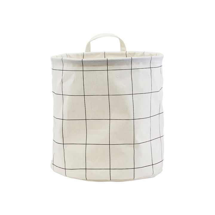 Storage basket Squares Ø 30 x H 30 cm from House Doctor in black / white