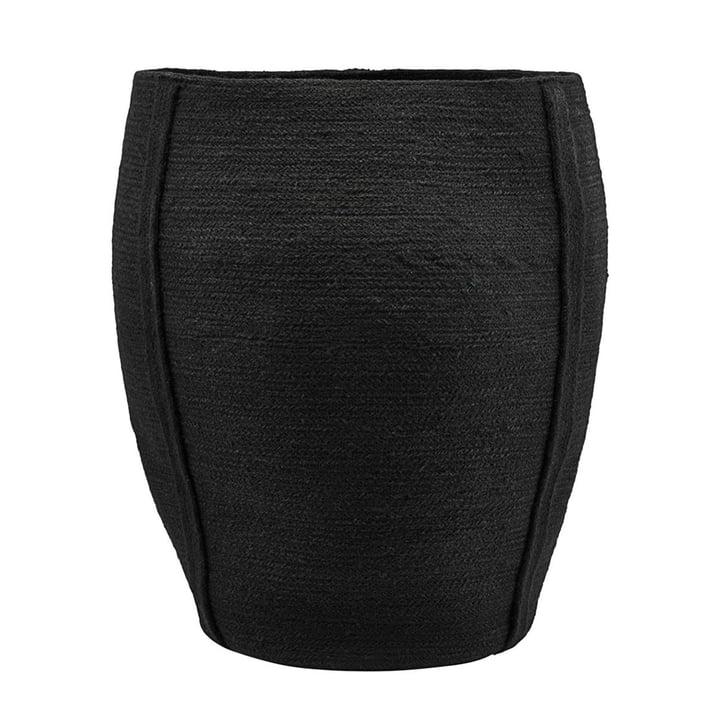 Drum Storage Basket Ø 40 x H 55 cm by House Doctor in black
