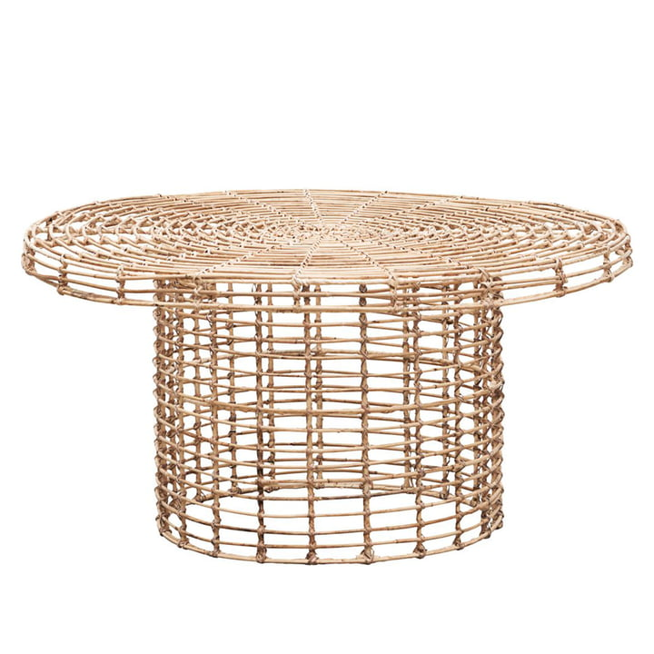 Nature coffee table Ø 80 x H 46 cm by House Doctor made of rattan