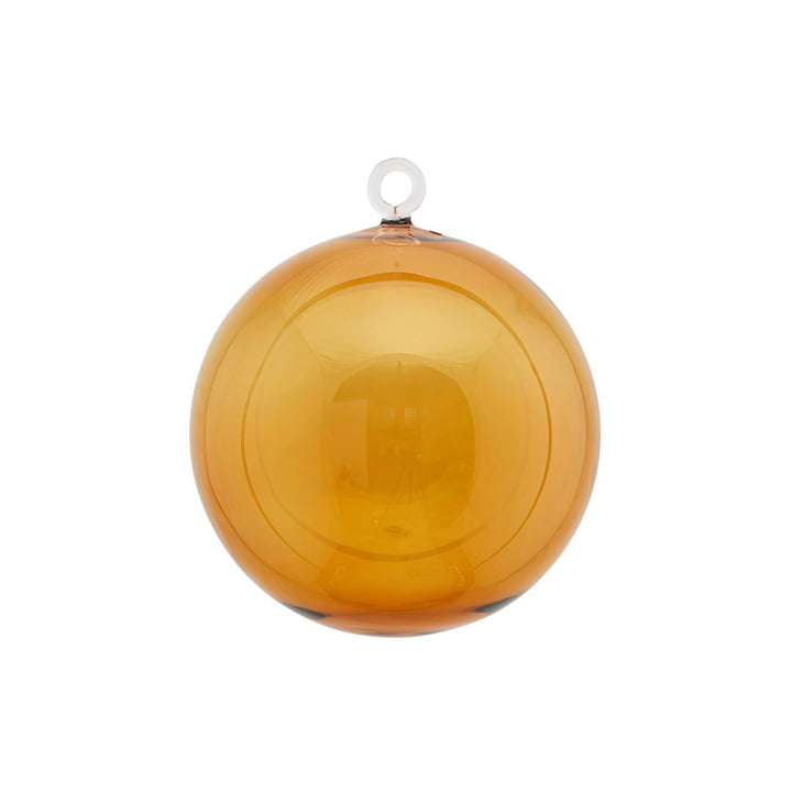 Glass Christmas tree ball Ø 12 cm by House Doctor in yellow