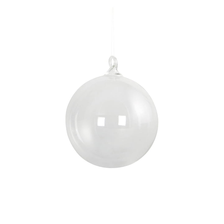 Glass Christmas tree ball Ø 8 cm by House Doctor in clear