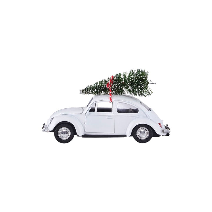 Xmas Cars Deco Cars 8,5 cm by House Doctor in white