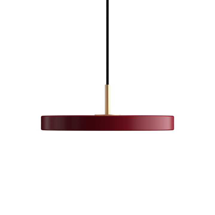 Asteria Mini LED pendant light by Umage in ruby red