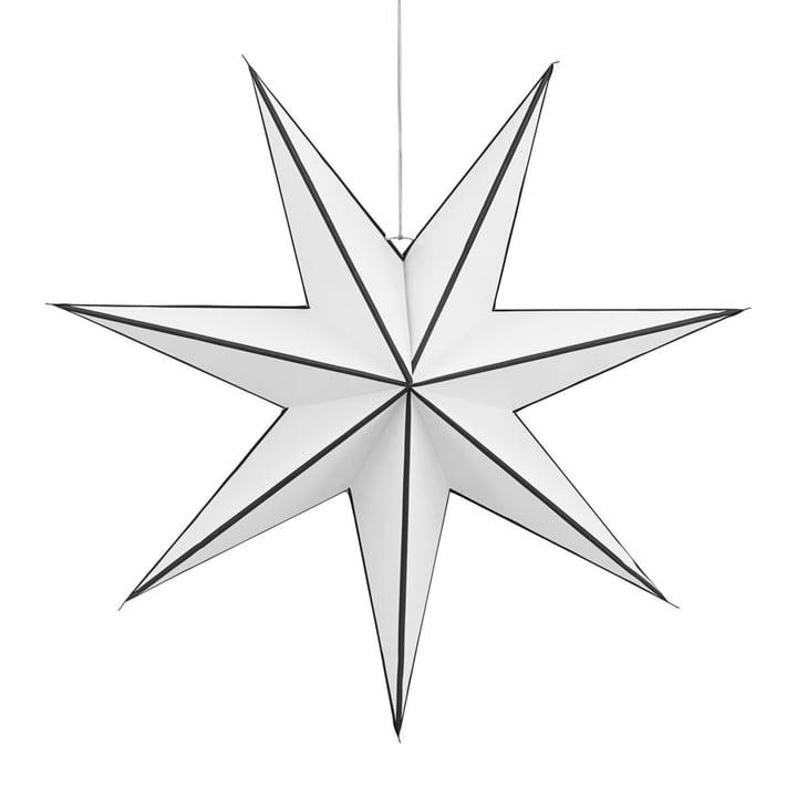 Christmas star Stroke 60 cm from House Doctor in black / white