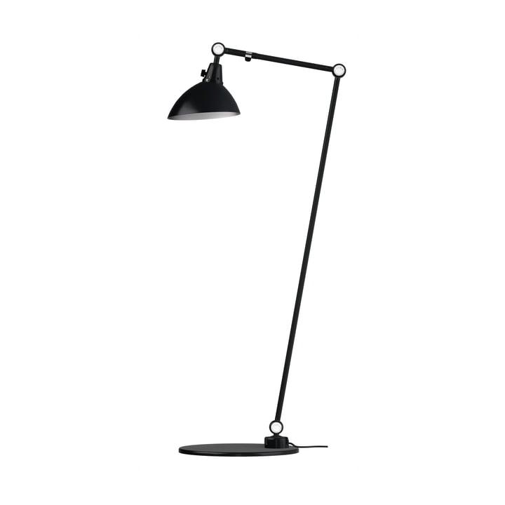 Modular 556 floor lamp by Midgard 120/30 cm in black with aluminium hinged caps