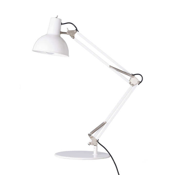 Spring balancer table lamp from Midgard in white