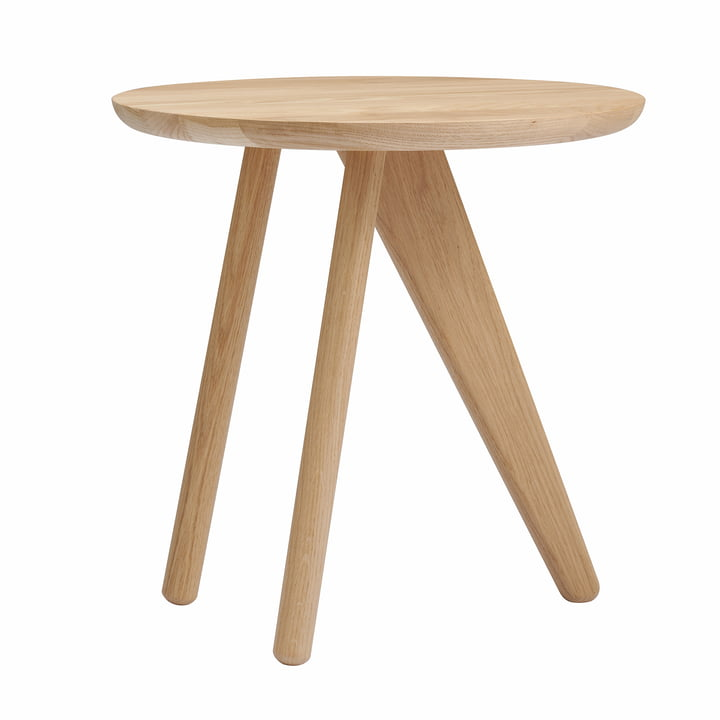 Fin Side table Ø 40 x H 40 cm from Norr11 in oak nature