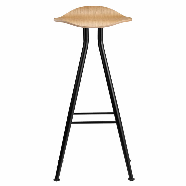 Barfly bar stool H 75 cm from Norr11 in oak nature / black