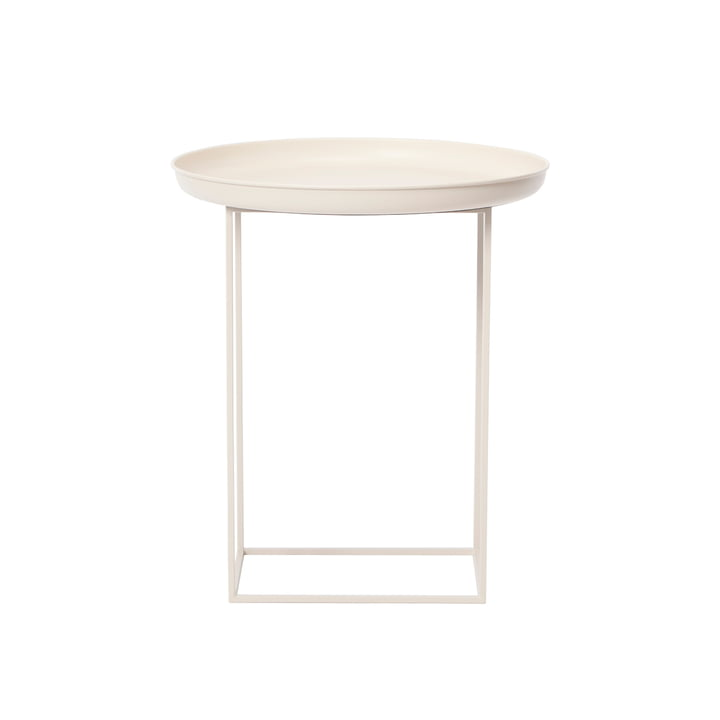 Duke side table Ø 45 x H 52 cm from Norr11 in antique white