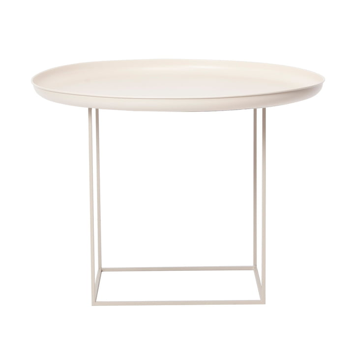 Duke coffee table medium Ø 70 x H 45 cm from Norr11 in antique white