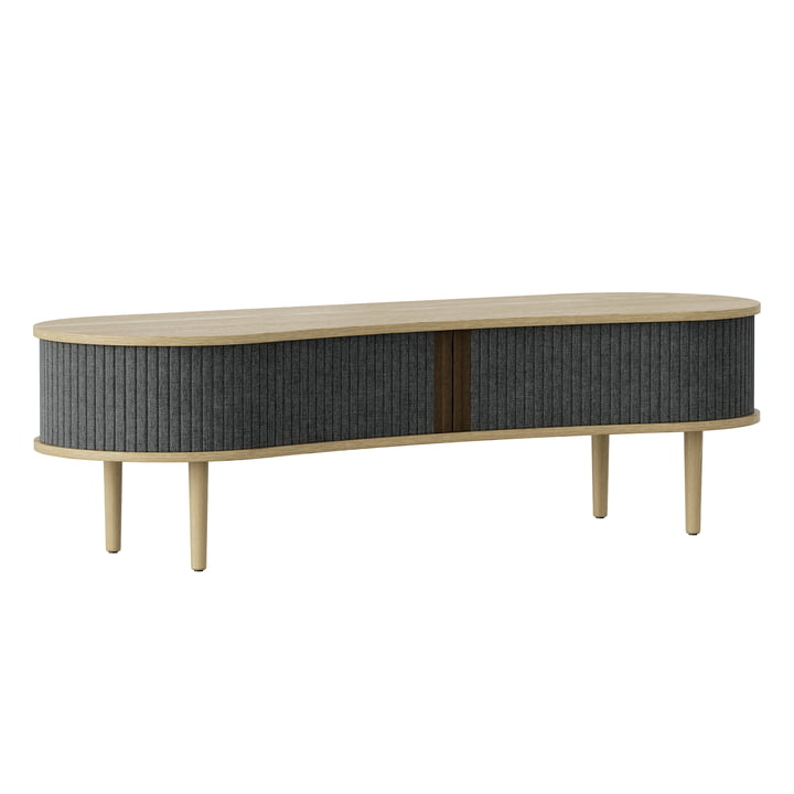 Audacious TV bench from Umage in oak / slate grey