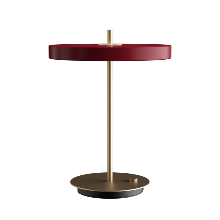 Asteria LED table lamp Ø 31 x H 41.5 cm from Umage in ruby red